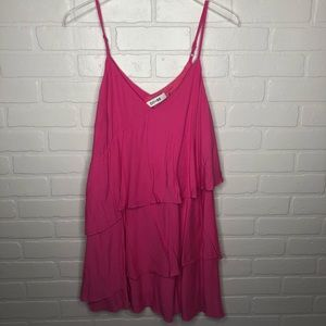 DO + BE Hot Pink tiered dress S